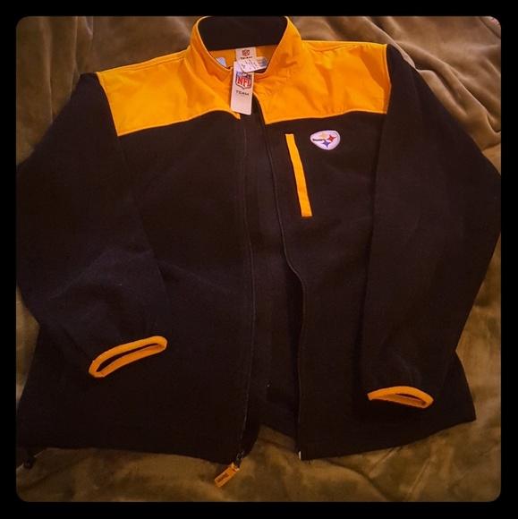 low priced f5900 2f61f Steelers mens fleece jacket NWT